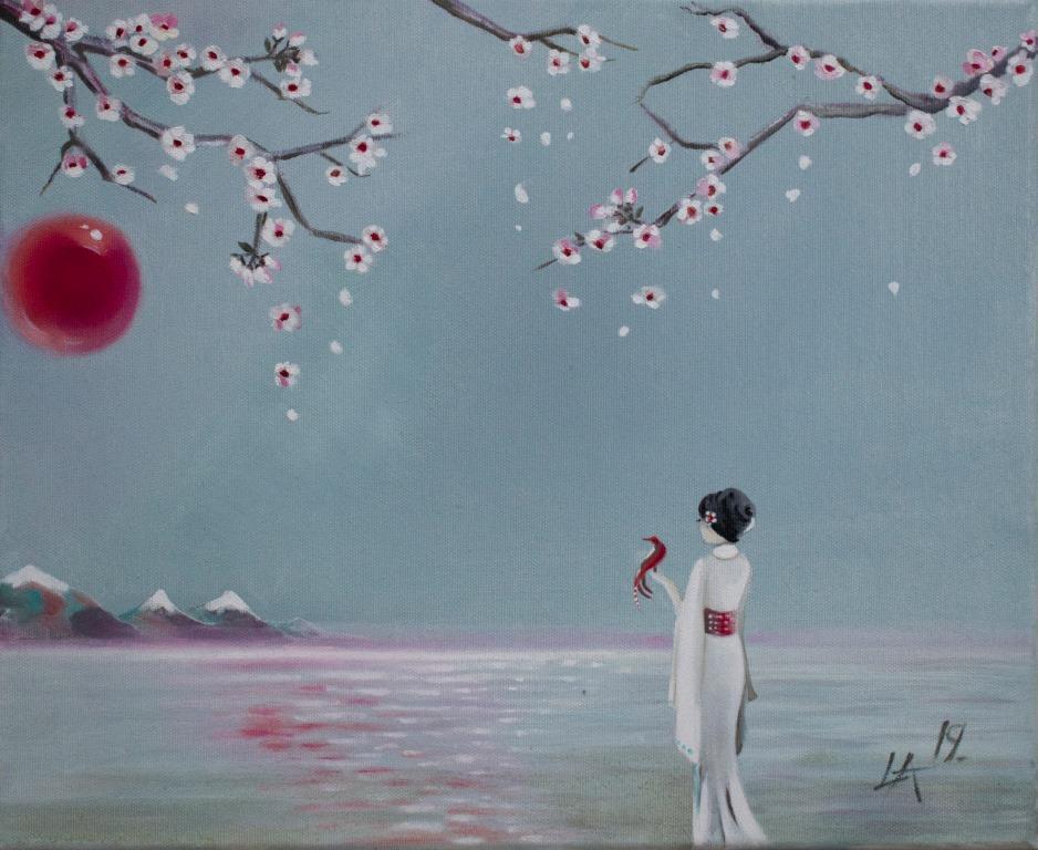 Geisha and a tree