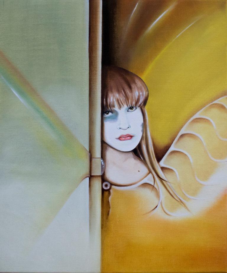 Portret ze skrzydłem