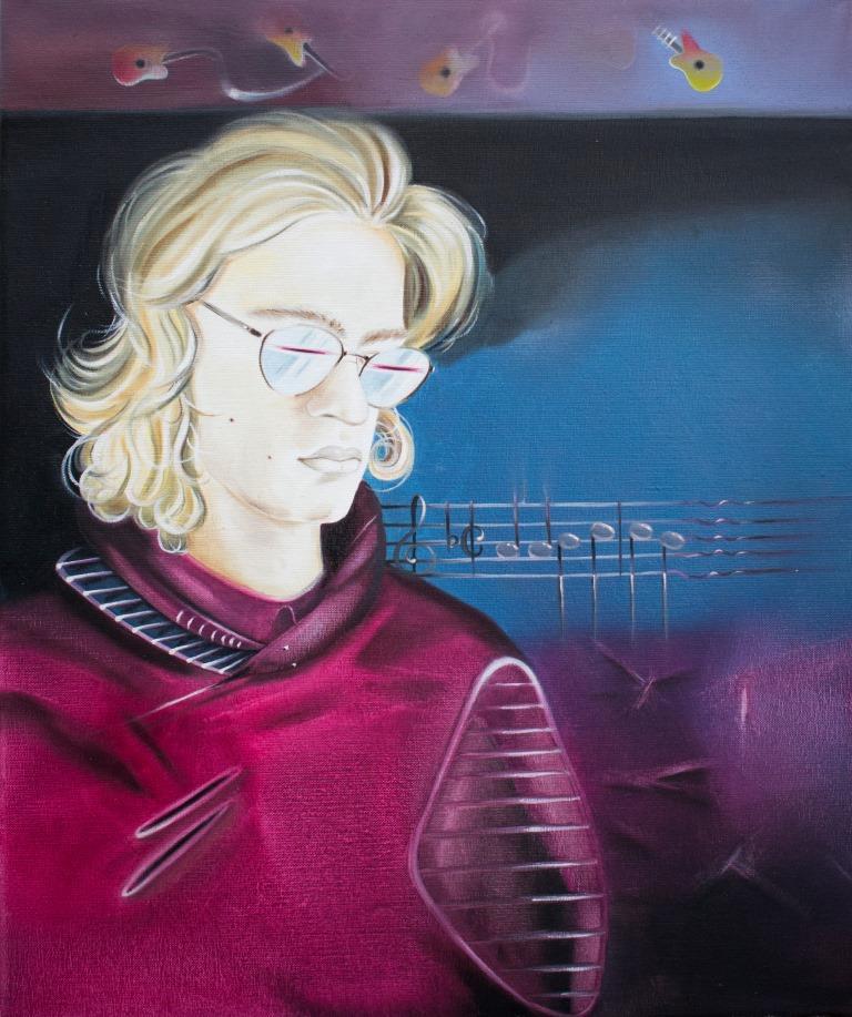"""Muzyka.  Na pięciolinii pierwsze nuty \""""Ody do radości\"""" skomponowane przez  Beethovena do poematu Fryderyka Schillera ."""